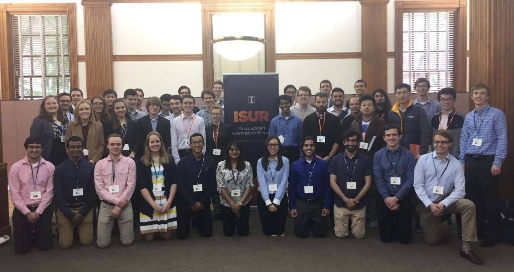 2016-2017 ISUR scholars and their mentors after the poster expo last April 27, 2017 at 104 Illini Union
